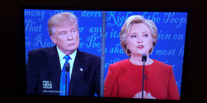 Hillary Clinton and Donald Trump debate for first time tonight