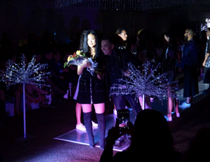 Ting Ting Allience Yang Laud at the end of her designs presentation. By Laiza Zaldivar