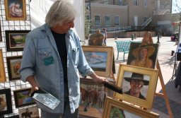 Rick Rotante, at Las Cruces Farmer's Market. Photo by Lazarus A. Gomez