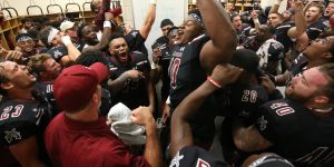 Aggies nab first conference win