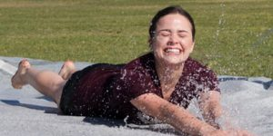 Giant slip and slide kicks off Relay for Life