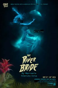 "A poster for the NMSU Theatre Arts production of ""The River Bride."""