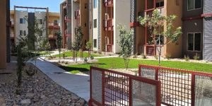 The Flats, located just north of the Pan Am Center on Wisconsin Avenue, officially opened over the summer. The luxury apartments are creating new challenges for NMSU Housing and Residential Life. (Photo courtesy of The Flats)