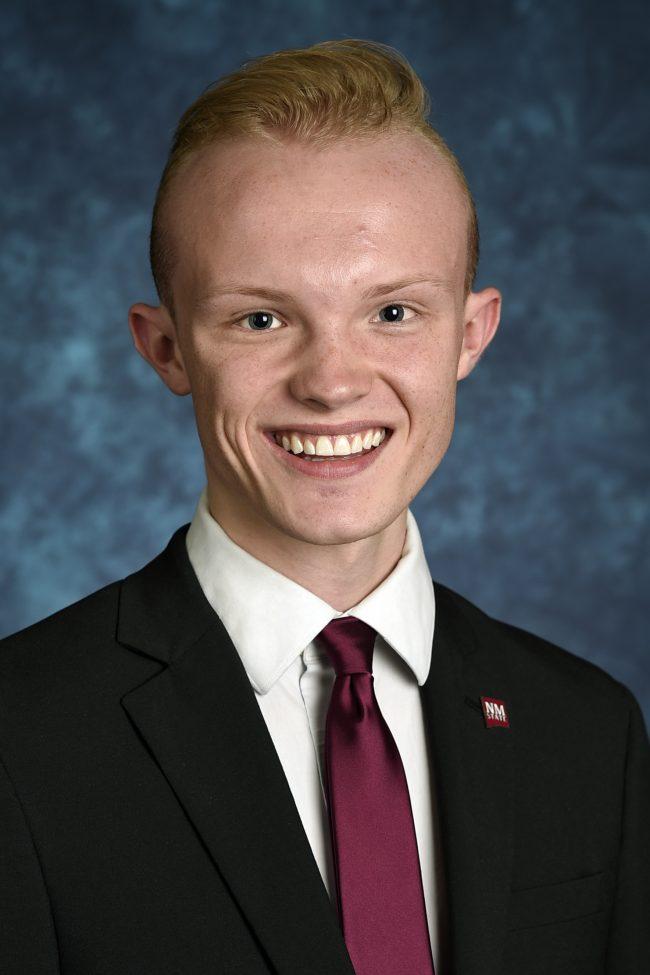 ASNMSU President Emmerson Morrow (NMSU photo)