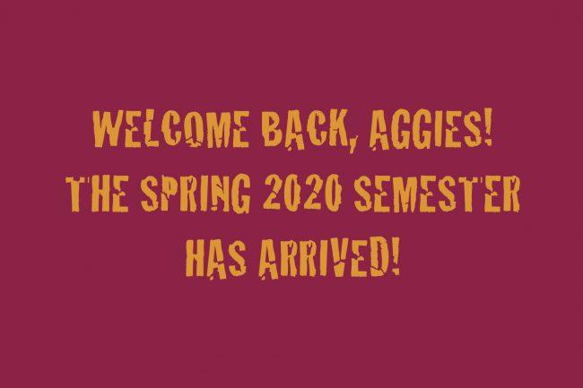 Welcome back, Aggies!